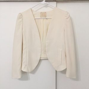UO Pins and Needles Off White Crop Jacket XS